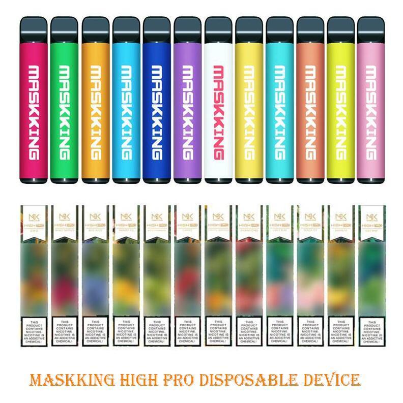 Maskking High Pro Einweggerät Russland Version 1000 Puffs 600mAh 3.5ml Vorgefüllte Patronen E Zigarette PK Air Bar Lux GT Bang XXL Puff
