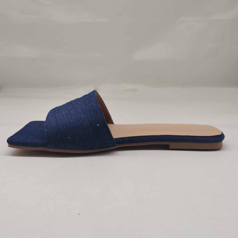 Pantofole Summer Women Lino Flip Flop Cowboy Slipper Slifts Fashion Slides 2021 Scarpe da donna ricreazione Scarpe piatte di grandi dimensioni