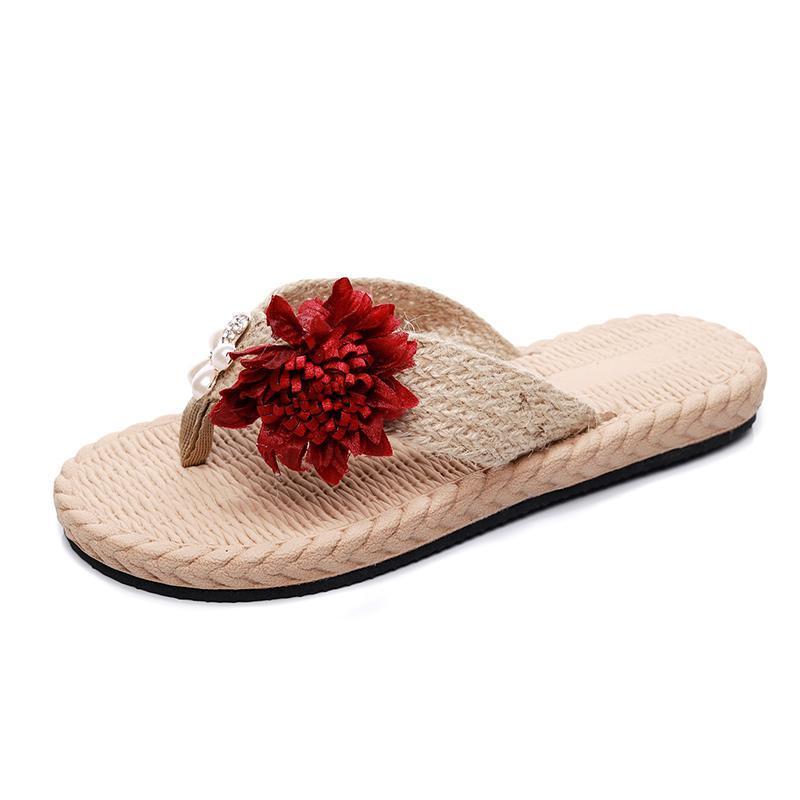 Zapatillas de playa de moda de verano Sandalias planas antideslizantes