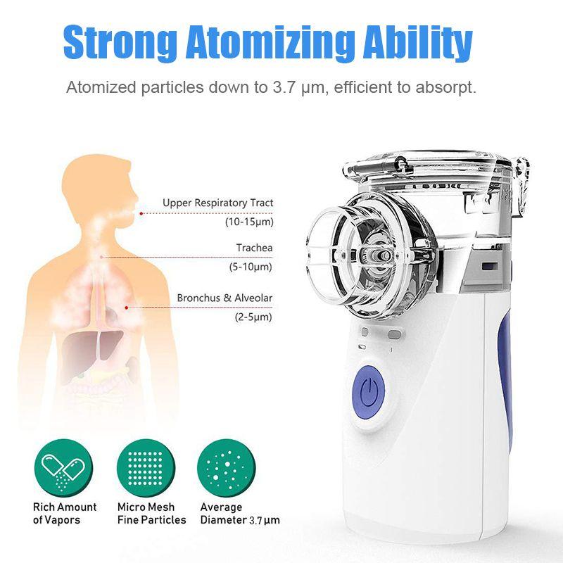 Portable Nébuliseur Machine Médical Atomizer Nébuliseur Inhalateur Nébulizator Silent Inhalateur Humidificador Nébulizador