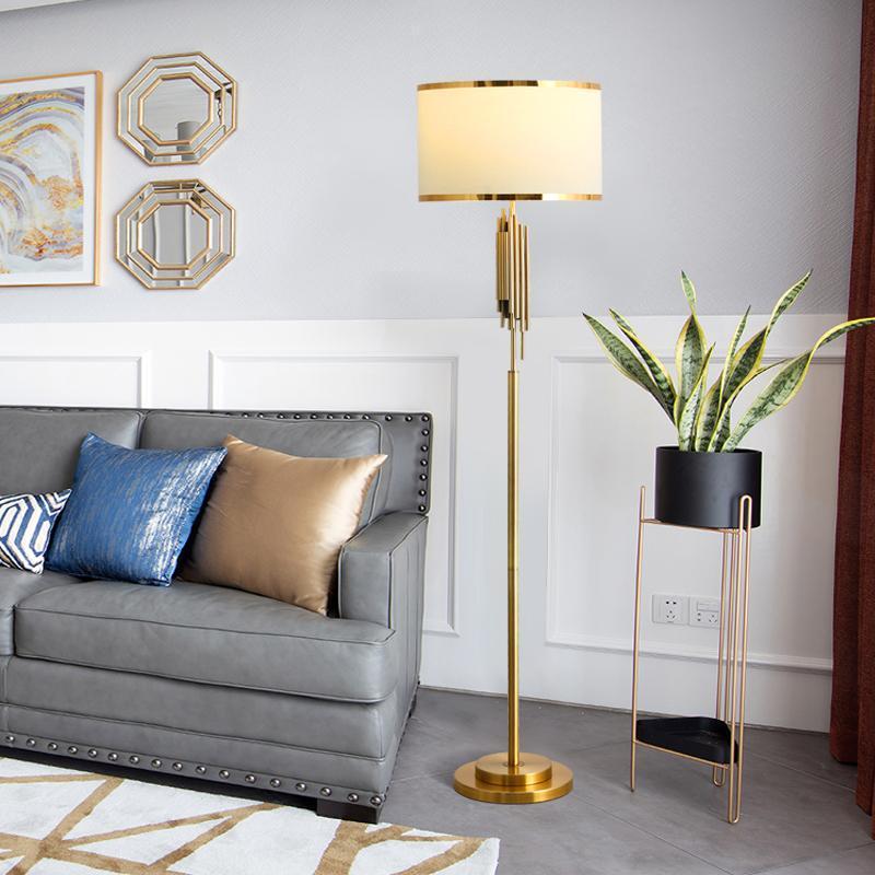 Floor Lamps Nordic Golden Lamp Living Room Sofa Bedroom Creative Simple Modern Minimalist Light Luxury Warm