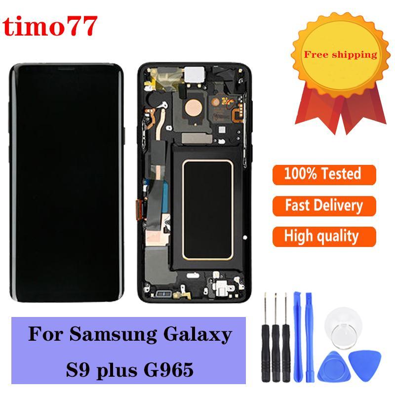 Fabrika Fiyat Samsung Galaxy S9 Için Orijinal Artı LCD Paneller Ekran Dokunmatik Ekran Digitizer Meclisi Değiştirme G965 100% Test