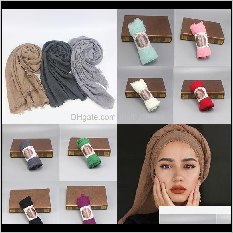 Wraps Sombreros, Guantes De Moda Aessore AessoreSítico Estilo Cabeza Bufanda Turbante Inner Hijab Caps Algodón Y Lino Monocromo Pelo Borros Bufandas Femme Mus