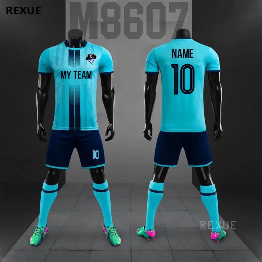 Jersey de football bricolage Jersey Football Uniforme Custom Soccer Jerseys Futbol Adulte Football Ensuite 2019 2020 Nouveau Taille Tracksuit