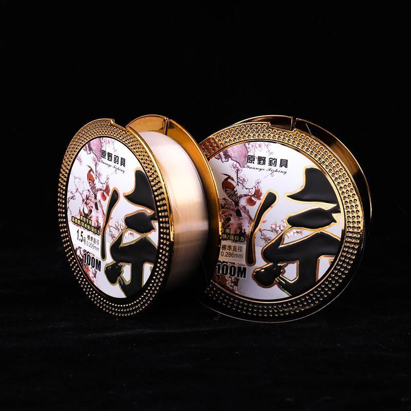 Monofilamento de linha de pesca de nylon rompin 100m afundando material japonês super forte para trança de carpa