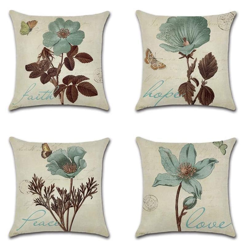 Pillow Case Decorative Cushion Covers, Throw Perfect To Outdoor Patio Garden Bench Living Room Sofa Farmhouse Decor