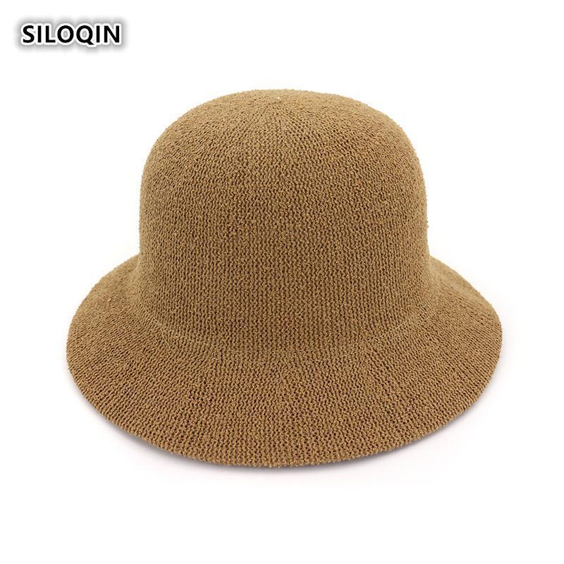 Panama Ladies Cap Summer Trend Bucket Hat Foldable Breathable Sunscreen Beach Hats Elegant Woman Brand Casquette Wide Brim