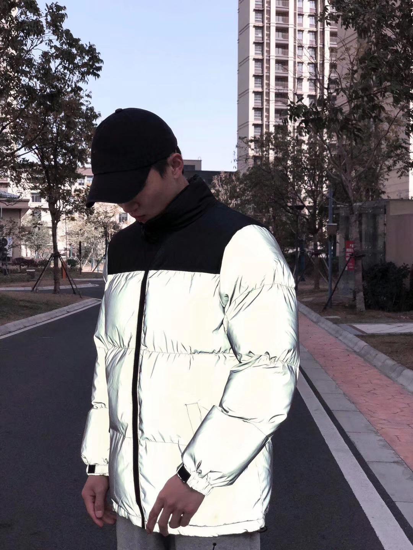 Женская мужская светоотражающая куртка зима Parkas Coats Женщины хип-хоп уличная одежда мода дизайн хорошего качества JK009