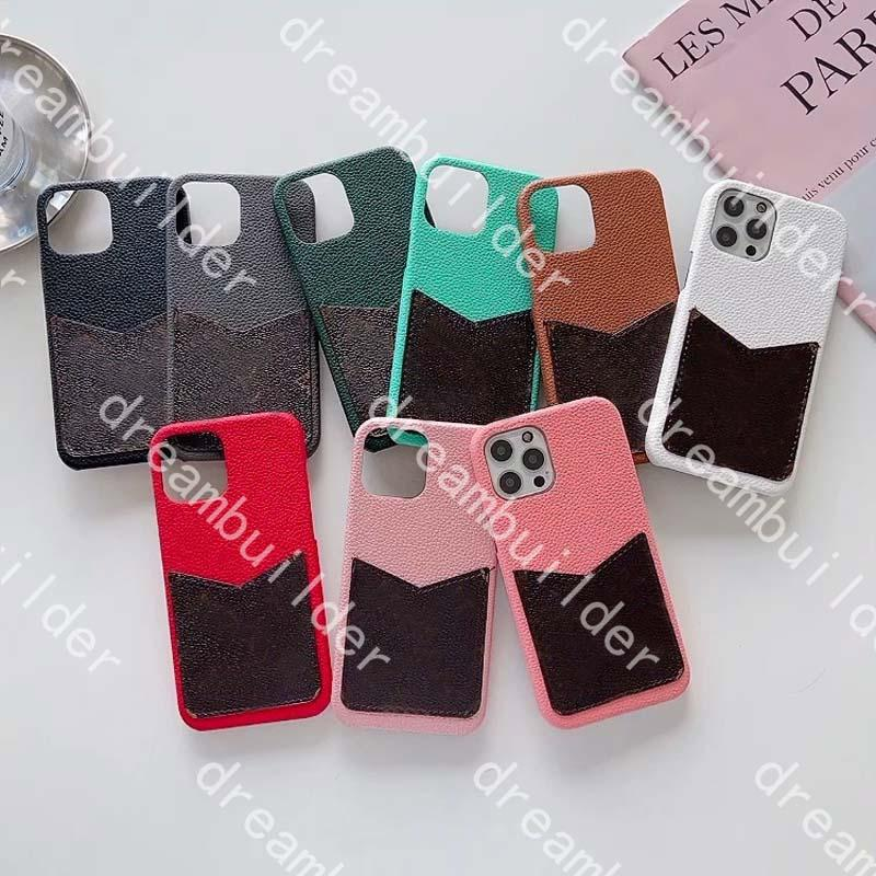 Top Designe Fashion Capas telefônicas para iPhone 12 Pro Max 11 11PRO 11PROMAX 12Mini x XS XSMAX XR Couro Capa de Tipo de cartão Samsung S10 S20 S20P S20 S20 Nota 10 10P 20U Capa