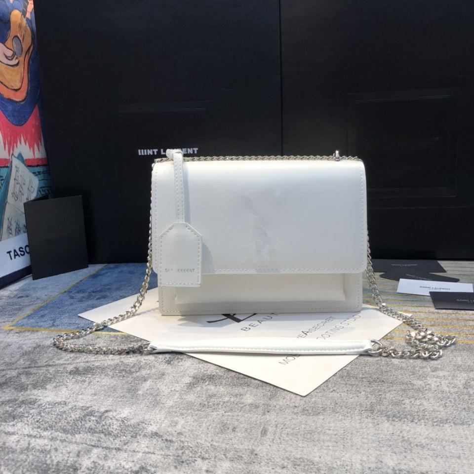 High quality flap bag luxury designer handbags 4 colors SUNSET original leather women shoulder bags fashion 22cm crossbody