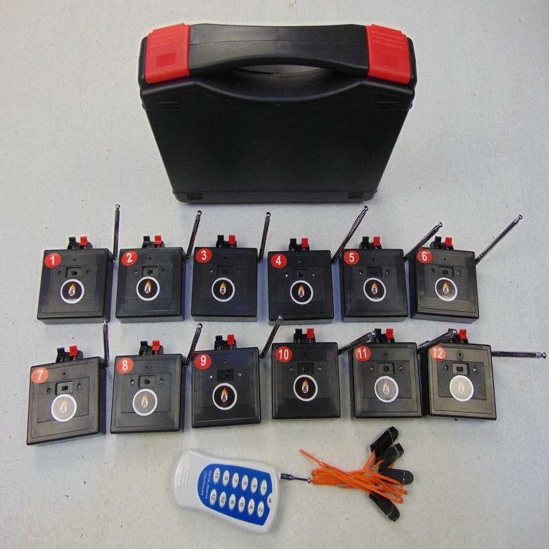원격 제어 12 큐 불꽃 놀이 시스템 파티 용품 무선 스위치 CE 연결 와이어 웨딩 선물 라디오 소방 특수 효과 전기 라인 0.45mm 구리