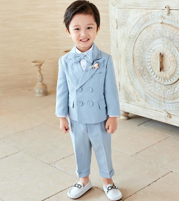 Niños ropa de boda ropa conjuntos de alta calidad para niños ropa de rendimiento niños corbatas blazers camisetas pantalones 4pcs niño caballero trajes A7101