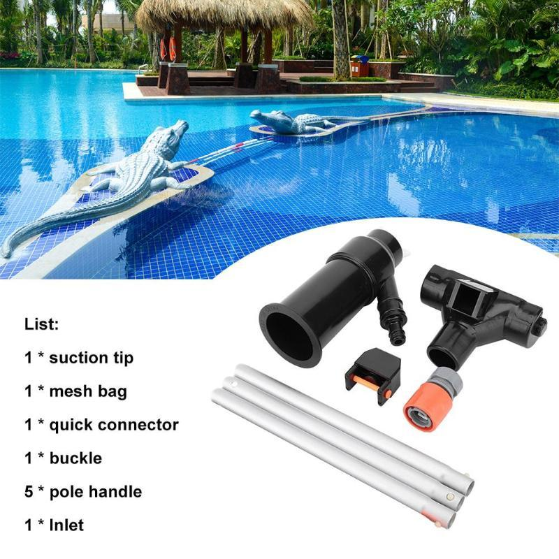Pool & Accessories Portable Swimming Vacuum Jet Cleaning Tool Nozzle Suction Head With Section 135CM Rod