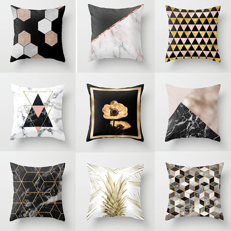 Kissen / dekorative Kissen Geometrische Druck Funda Cojin Gris Federe Cuscini divano de Cojines 45 * 45 cm Dekorative Coshion Cover