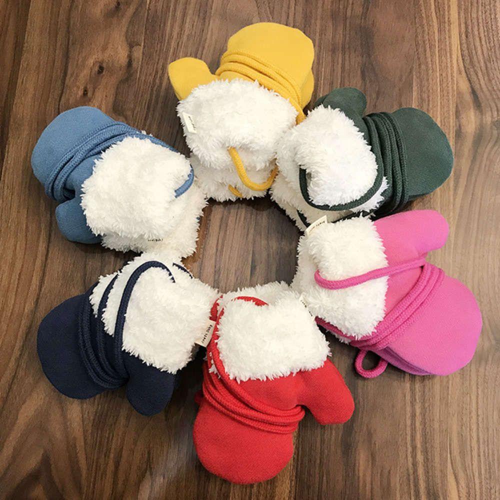 neewlvby gants 1-2 ans 3 ans 3 bébés 4 garçons filles peluche épaississant des enfants hiver chauds chauds et charmants