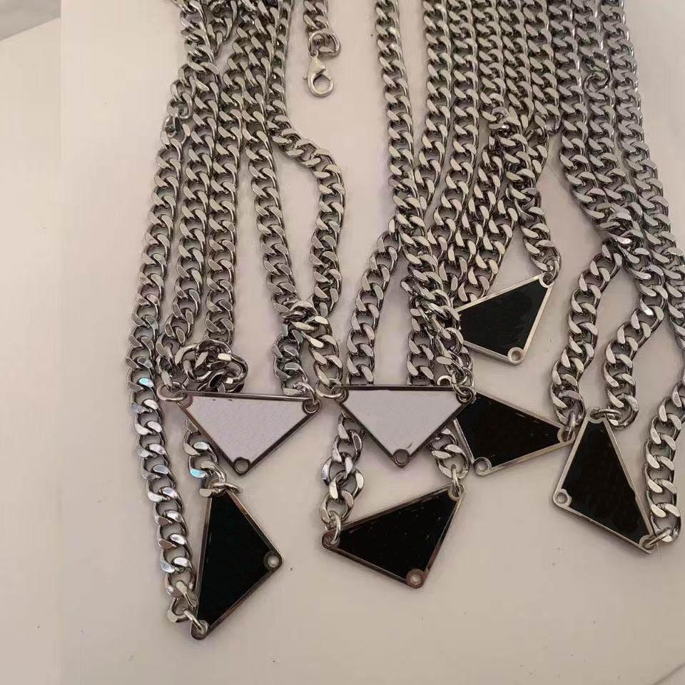 Fashion TriangleNecklace Luxury Pendant Necklaces Love Bracelet for Man Women designer jewelry Bracelets with channel BOX Gift wholesale