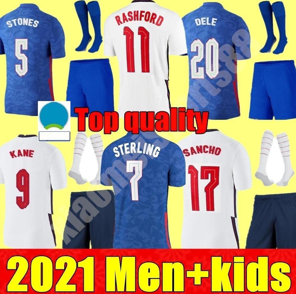 2021 Национальная команда мужчин + детский комплект футбольные трикотажные изделия Kane Sancho стерлингов 20 21 Dele lingard Англия Рэшфорд ребенок молодежь мальчиков футбол