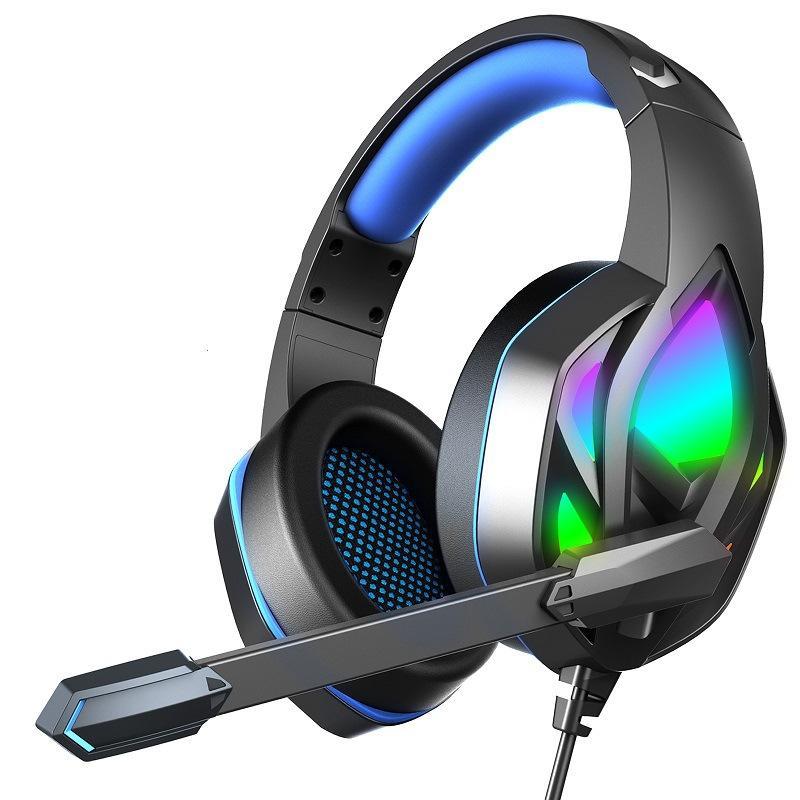 Oyun Kulaklıklar Erxung H100 Kulaklıklar Işık Mic ile Mic Mic Stereo Kulaklık PC Bilgisayar Gamer Laptop PS4 Yeni X-Box
