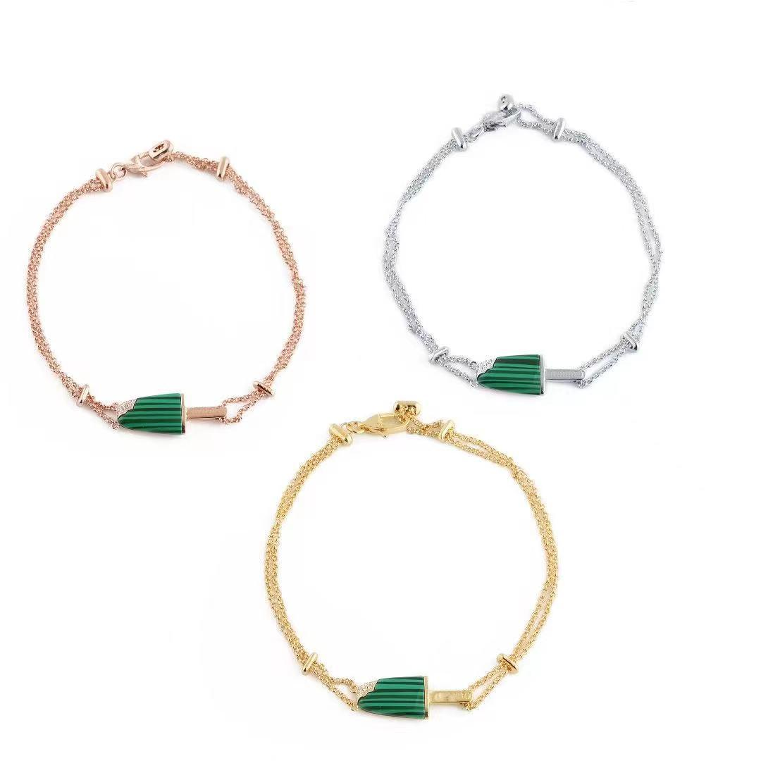 bangles design silver couple designer bracelets women stainless steel Ice cream love cuff black white green red color gold bangle bracelet luxury womens jewelry