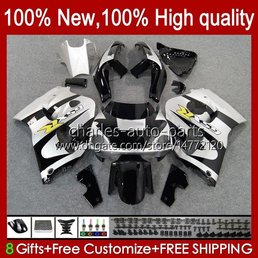 Bodywork Kit för SUZUKI SRAD GSXR 600CC 750cc 750 600 CC 96-00 BODY 22NO.47 GSXR-750 GSXR600 1996 1997 1998 1999 2000 GSXR750 GSX-R600 96 97 98 99 00 Fairing Svart Silvery