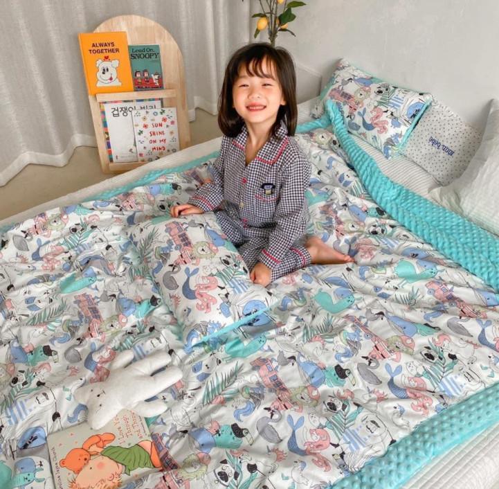 أحدث 150x200CM بطانية البازلاء الطفل بأحجام مختلفة، أسلوب الكرتون سميكة، مواد القطن، ودعم شعار مخصص