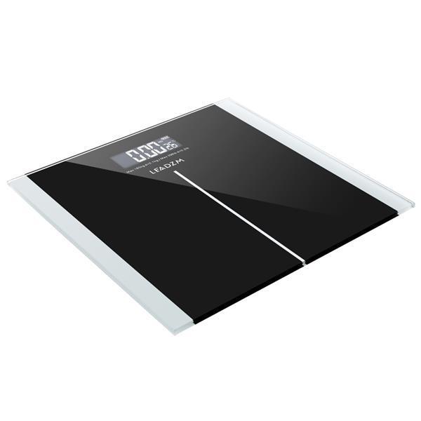 Modèle de taille mince de plombzm 180kg Balance de poids personnel Noir 180kg / 0.1kg Switch Switch Verre trempé