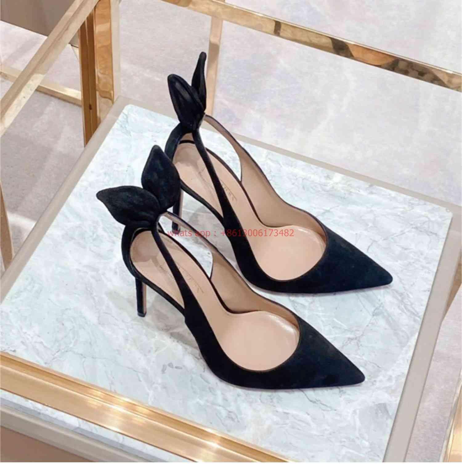 Sandálias Design Marca Bonito Ponto dedo-Tee Heels Bunny Ears Slingback High Heaver Woman Og41