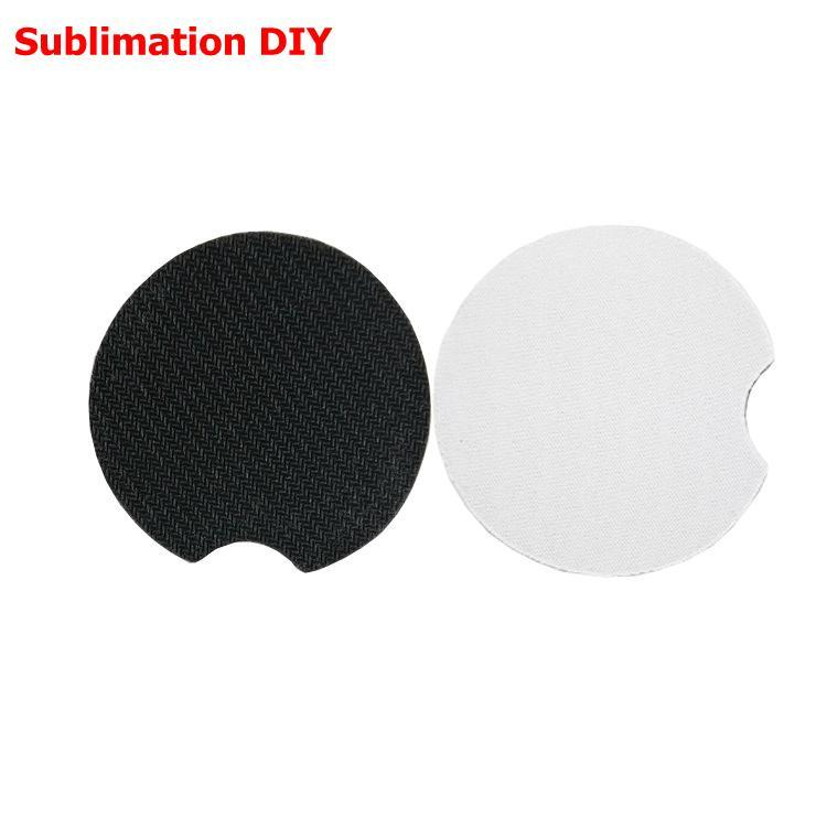 Sublimation Coaster Neoprene Blank Table Mats Heat Insulation Thermal Transfer Cup Pads DIY Customized Gifts ZYY