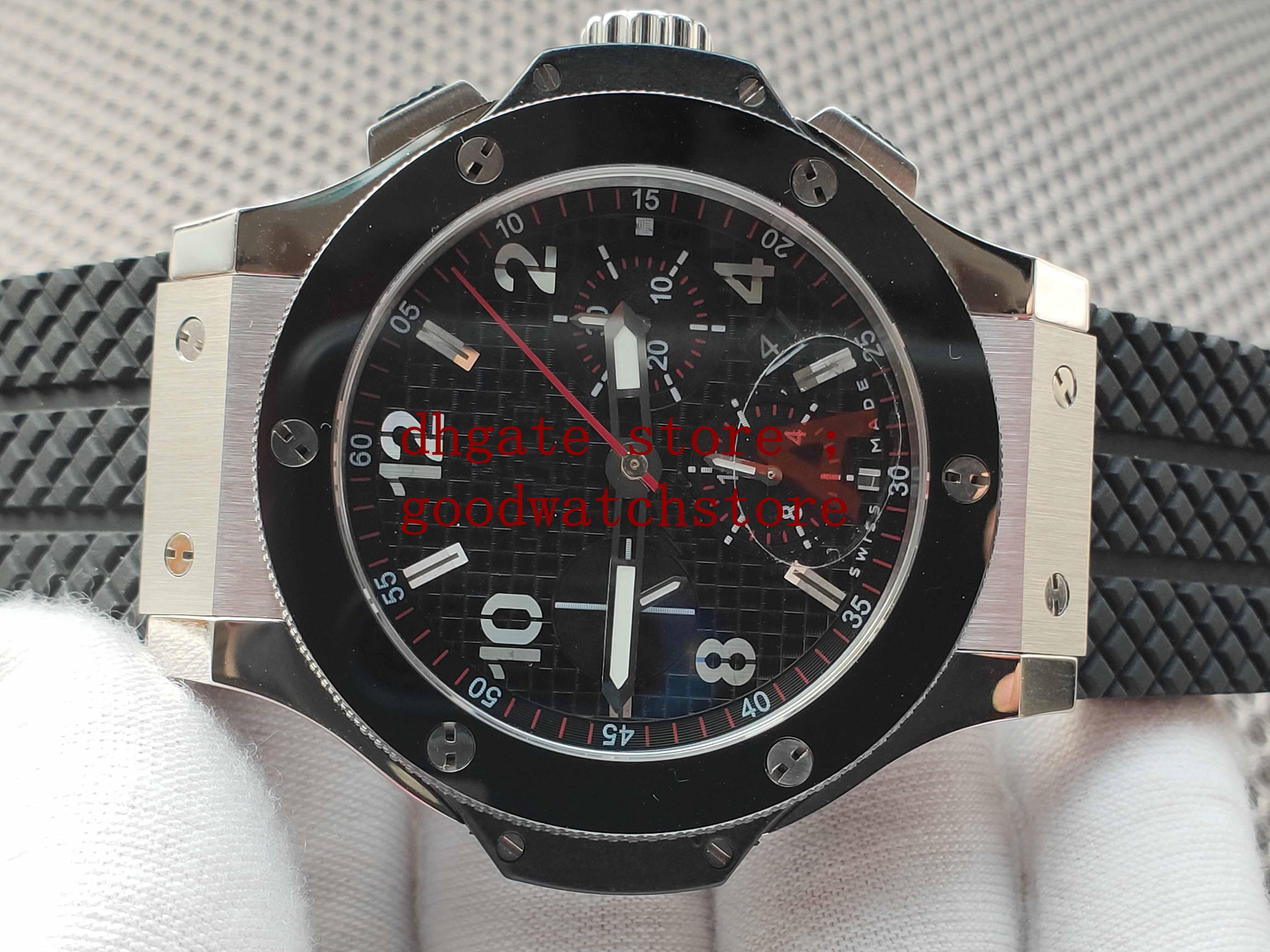 Black Men's 44mm luxury Watches Mens Automatic Chronograph Eta 7750 Men Ceramic stainless steel Watch