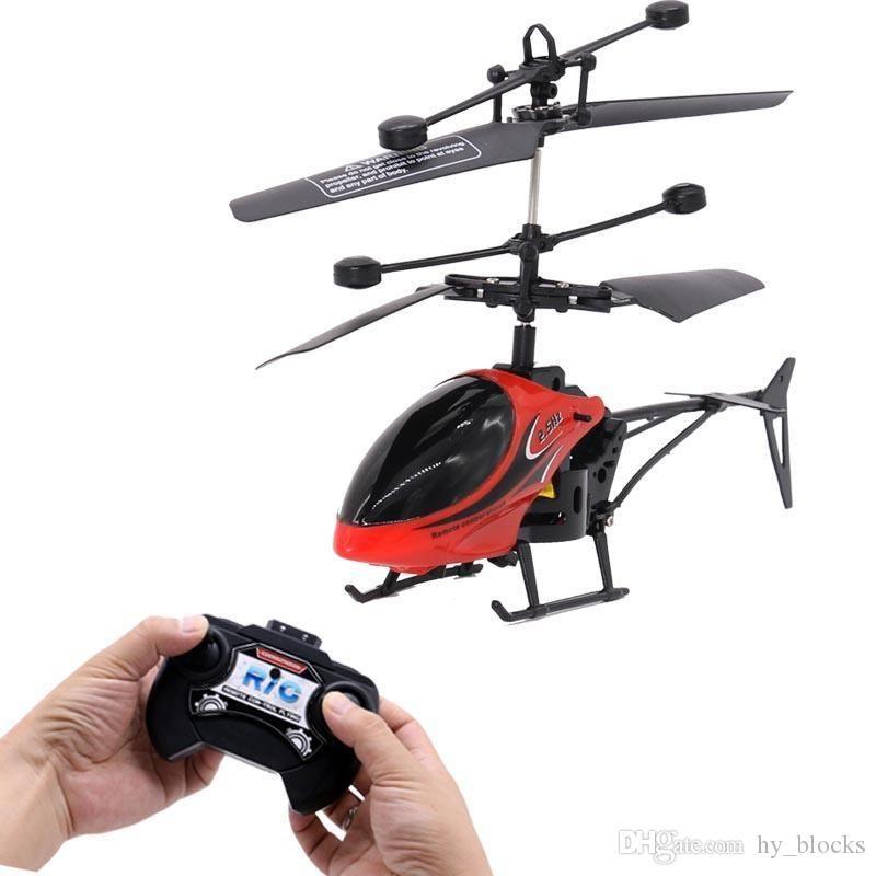 Mini RC Drone Elicottero a induzione a induzione a 2 canali Elettronico Elettronico Divertente Sospensione Telecomando Aeromobile Quadcopter Drone Bambini giocattolo