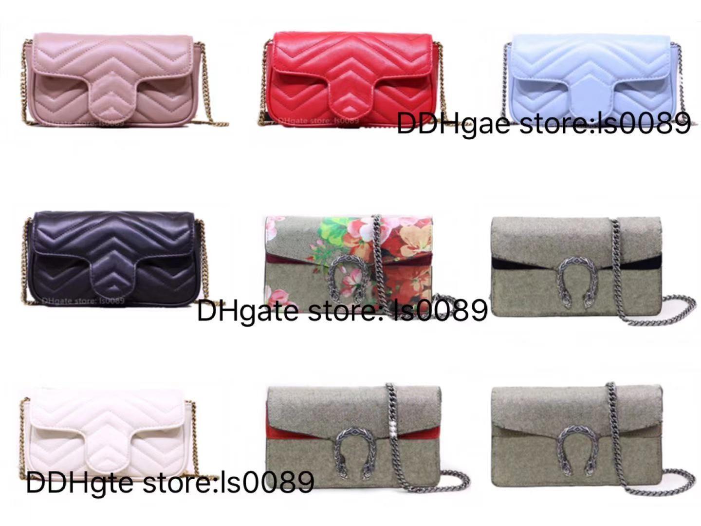 Avec encadré classique marmont sacs à bandoulière de qualité supérieure cuir véritable cuir multicolore Multi-couleur femme mode de style luxurys sac sac porte porte-pièce porte-monnaie