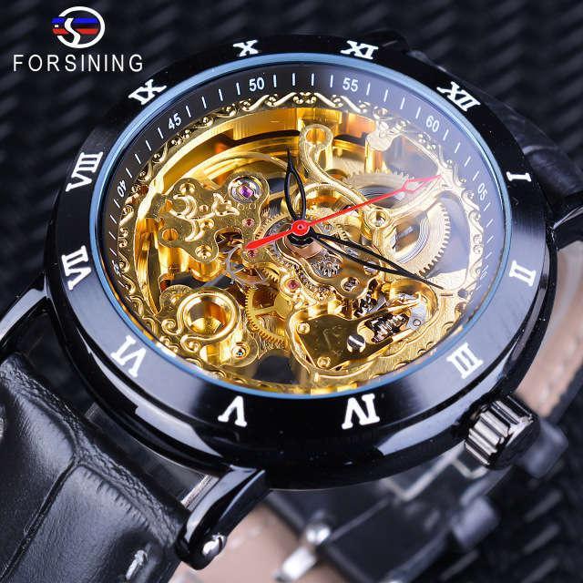 Ceinture de montre mécanique creuse automatique pour hommes