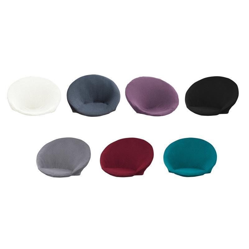Cubiertas de silla Super Soft Jacquard Saucer SlightCover Separable Removible Poliéster Cubierta de luna Inicio El lavable