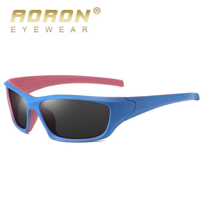 Esportes ao ar livre óculos de sol polarizados para homens / mulheres Quadro de dois tons Goggle Sun Óculos de sol UV Slip Strap