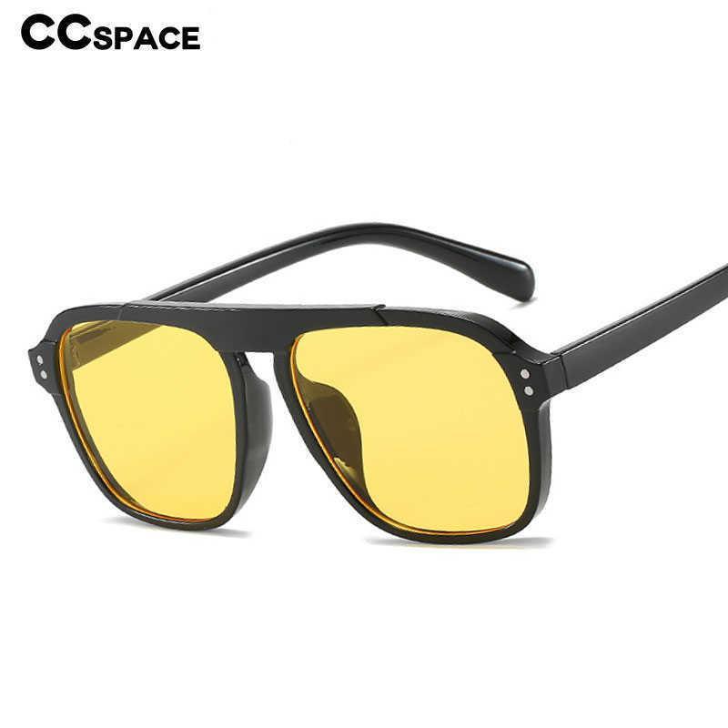 47355 Große quadratische rahmen retro sonnenbrille männer frauen mode shades uv400 vintage brille 210529