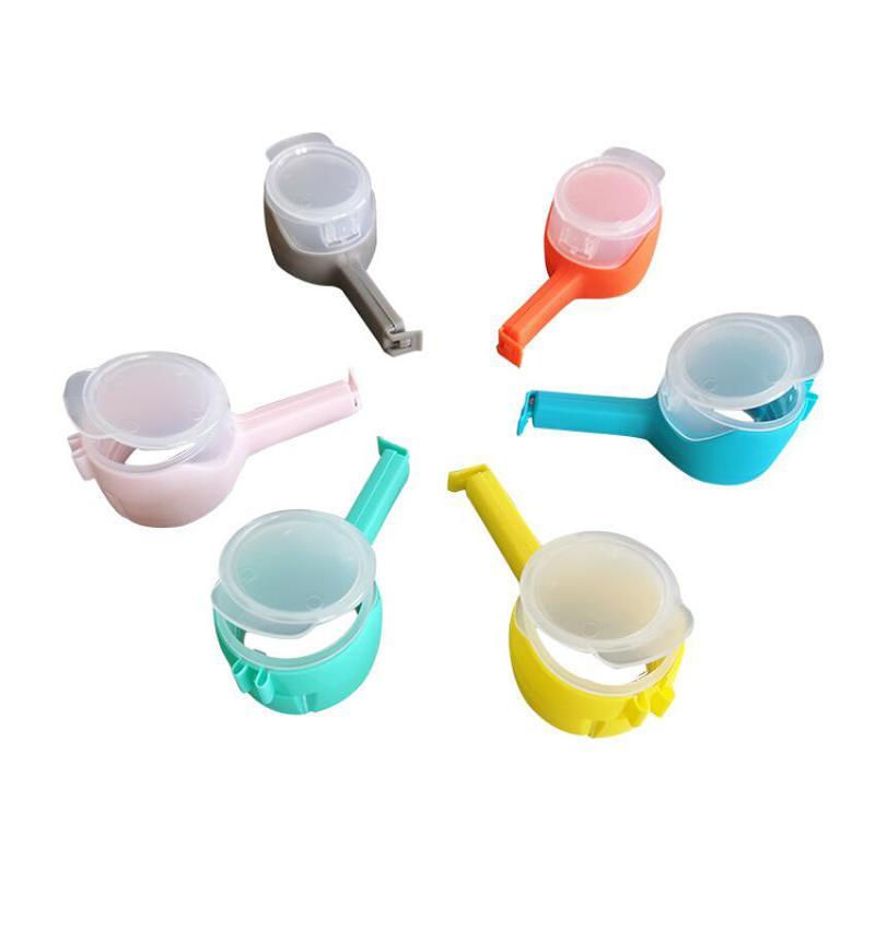 Scellage Clip Snack Food Versez des clips de sac de rangement en plastique Sac d'alimentation en plastique Sac de snack Snack GWC6780