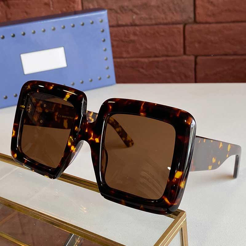 2021 Nouvelle saison Femmes Lunettes de soleil GG0783S Femmes Sunglasses de mode Femmes 0783 Populaire Cadre Square Haute Qualité Style de shopping avec boîte originale