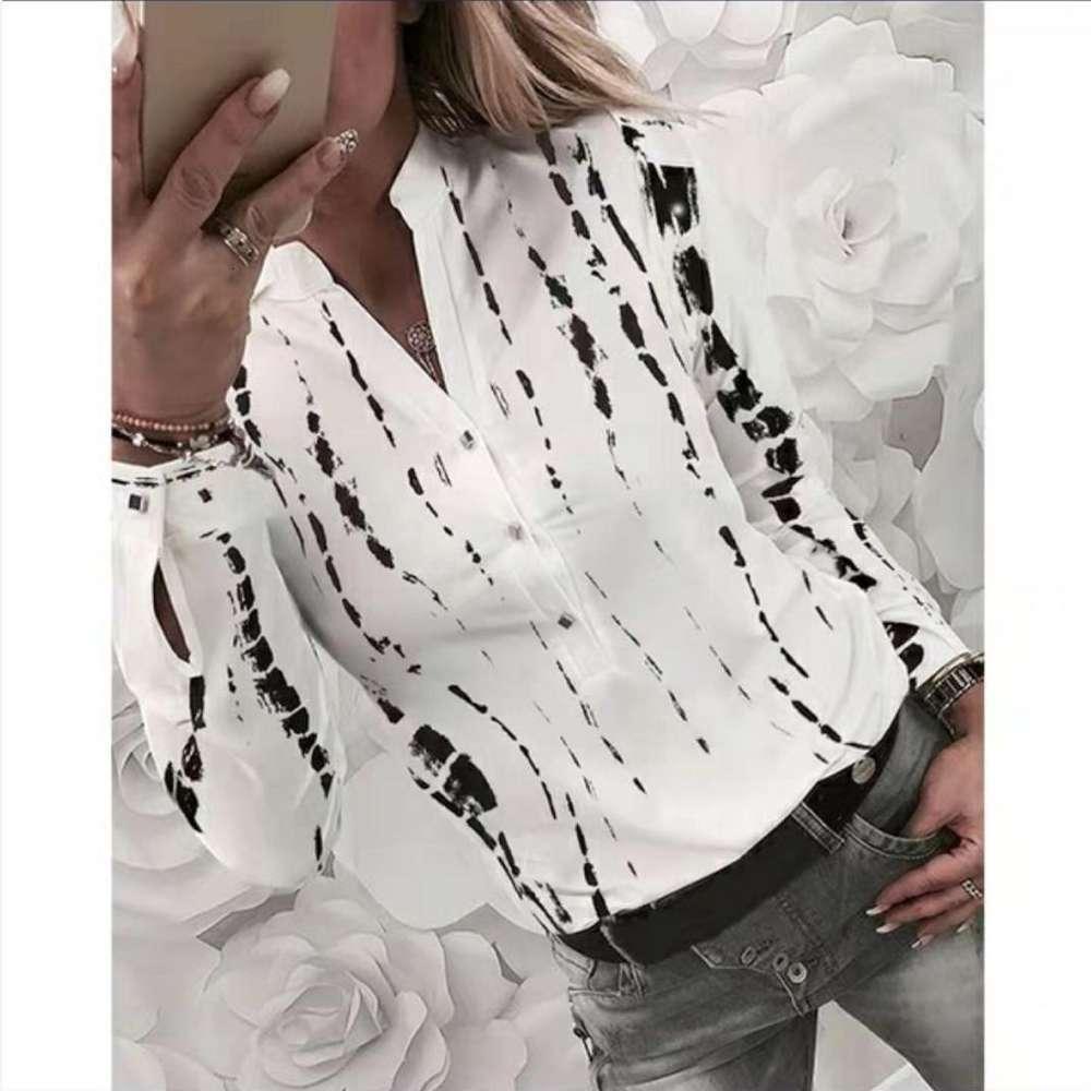 Blusas Nueva camisa de manga larga impresa en otoño 2019