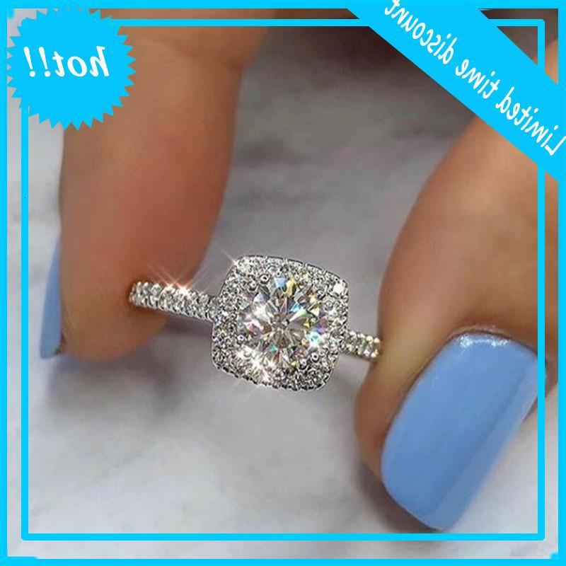 Livre de gota no top venda doce jóias nice 925 esterlina prata rodada corte branco topázio cz diamante promessa anel de casamento