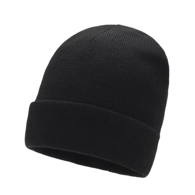 Man Women Durable Knitted Hat Stretch Dome Leisure Skullies Bonnet Cap Autumn Winter Outdoor Fashion Casual Cuffed Beanie Caps1 Hats