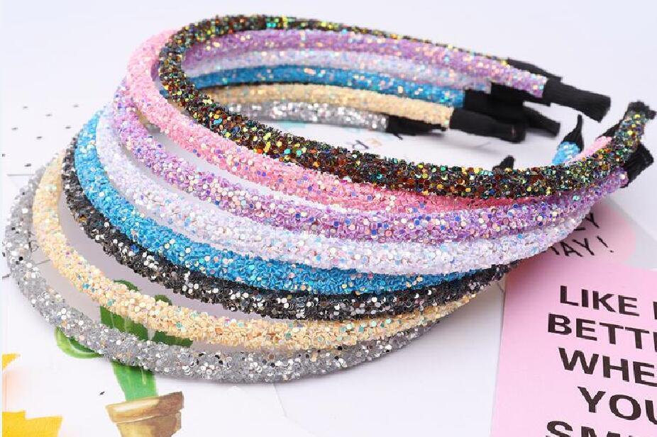 10 sztuk / partia Mix Kolor Crystal Headbands Hairband Ozdoby do rzemiosła Moda Biżuteria Włosów Prezent HJ13