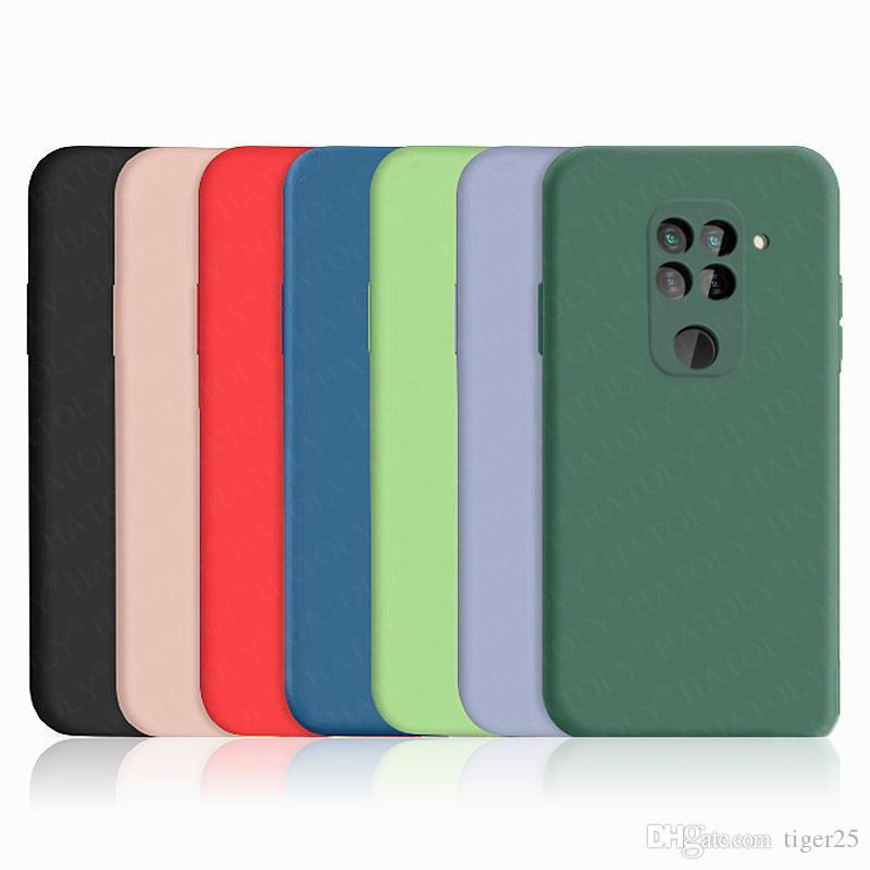 Para Xiaomi Redmi Nota 9T 9S 9 Pro Case Capa MI Nota 10 10T Lite Pro Liquid Silicone Soft TPU Pumper Telefone Voltar Caso Redmi 9A 9c