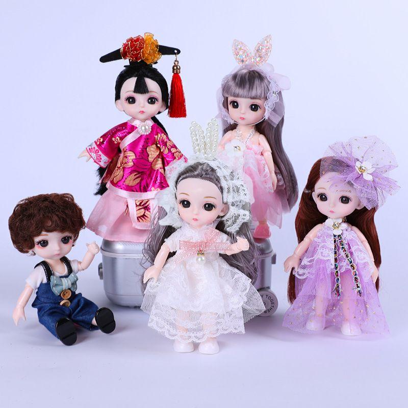 17cm mini poupées princesse, poupée POP jouet, marionnette à la main, mignonnes petites princesse