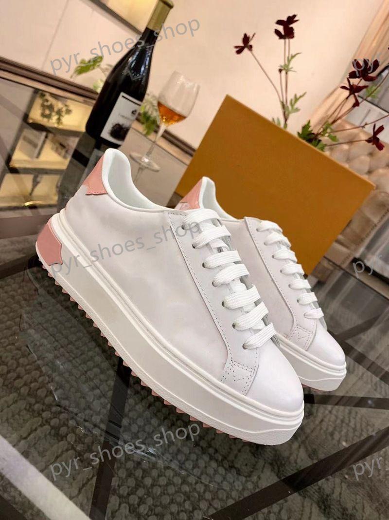 Child Time Out Sneakers Designer Lady Flat Sapatos Casuais Couro Letra-Up Letras Luxo Mulher 100% Plataforma de Vaca Homens Grande Tamanho 41-45