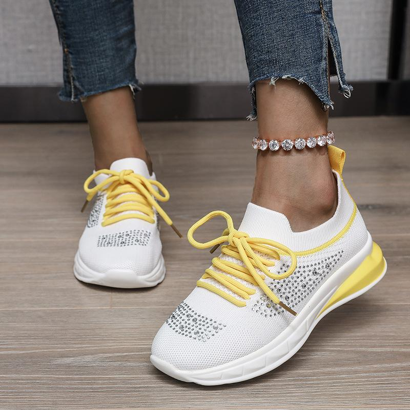 Women Tennis Shoes Breathable Air Mesh Athletic Sneakers Female Lightweight Flexible Trainers Chaussures Femme