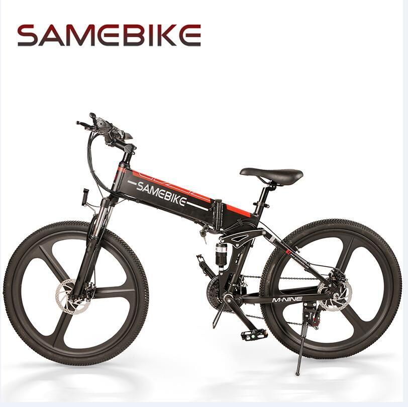 [AB Yok Vergi] SameBike LO26 26 inç Katlanır Akıllı Moped Elektrikli Bisiklet Güç Assisti 48 V 350 W Motor 10.4Ah E-Bike Açık Seyahat için