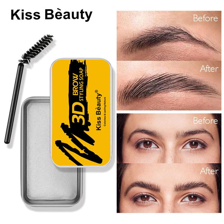 Kiss Beauty Брови Усилитель для бровей 3D 3D Укладки Brow Slife 10G Бесцветный Натуральный Прозрачный Цвет Освежающий тип