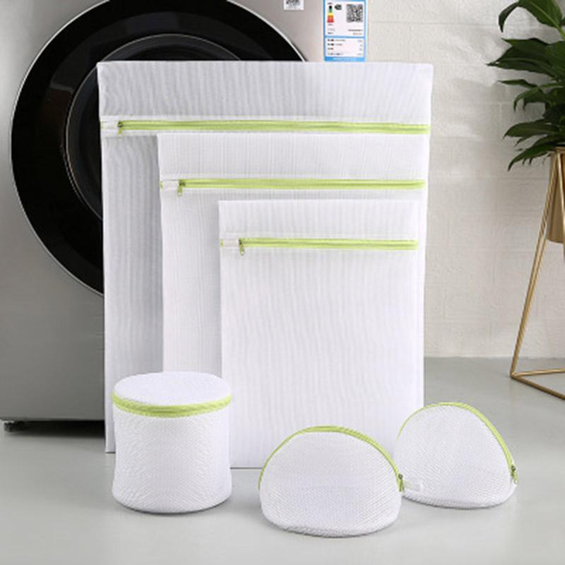 Grüne Reißverschluss feiner Mesh-Wäschesuchentasche zum Sortieren von Wasch-BH-Socken Kleiderblatt frisch entworfene Netzbeutelmaschine