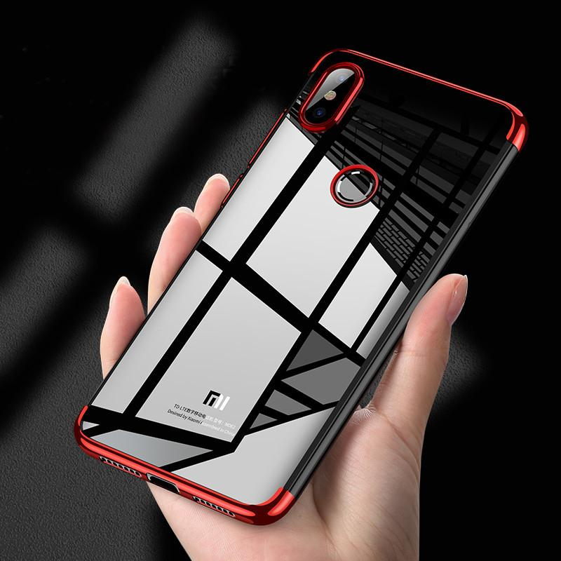 10pcs Electroplate Gilded Shockproof Clear Soft TPU Case For Xiaomi Mi 10 Pro Note 9 SE 8 Lite Mix Max 3 CC9 CC9E Plating Cover