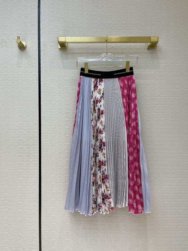 2021 Bahar Yaz Sonbahar Milano Tasarımcı Etekler Moda Bir Etek Kadın Marka Aynı Stil Etekler 0317-1